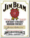 Blechschild Jim Beam -White Label-