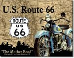 Blechschild Route 66 -Mother Road-